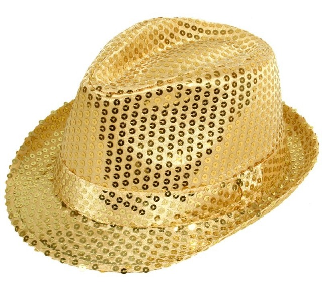 Chapeau Paillette or disco ( unisexe )
